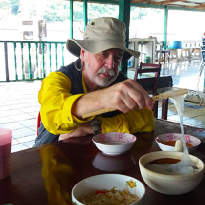 Enjoying Brunei's unique Ambuyat in Kampong Ayer