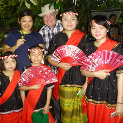 Experiencing Dusun culture in a rural village