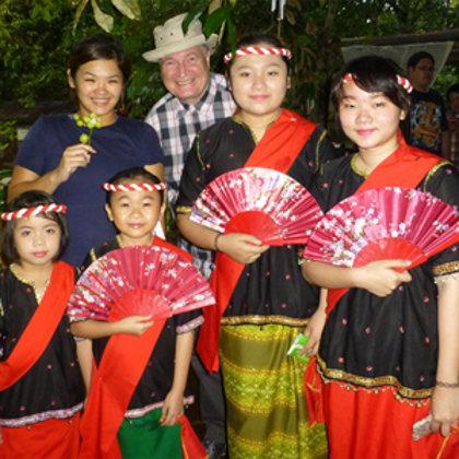 Experiencing Dusun culture in a rural village